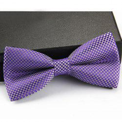 Stylish Checked Pattern Bow Tie For Men