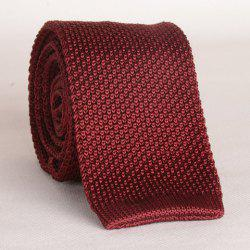 Stylish Wine Red Knitted Neck Tie For Men -