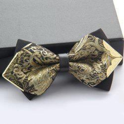 Stylish Alloy Embellished Various Pattern Double-Deck Bow Tie For Men - RANDOM COLOR PATTERN