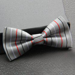 Stylish Colored Slender Stripes Pattern Bow Tie For Men -