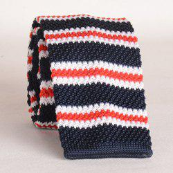 Stylish Various Stripe Pattern Color Splice Knitted Neck Tie For Men