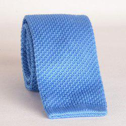 Stylish Light Blue Knitted Neck Tie For Men