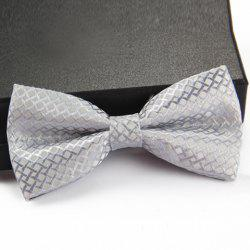 Stylish Rhombus Jacquard Bow Tie For Men -