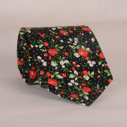 Stylish Fulled Various Flowers Leaves Dots Pattern Tie For Men