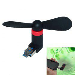 USB 2.0 to Micro USB Mini 2-Blade Fan for PC Laptop -