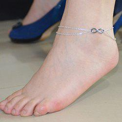 Double Layered Figure Eight Shape Anklet -