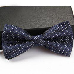 Stylish Small Dots Pattern Bow Tie For Men - DEEP BLUE