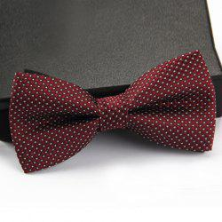 Stylish Small Dots Pattern Bow Tie For Men - WINE RED