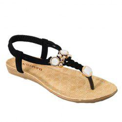 Simple Style Weaving and Metal Design Women's Sandals