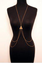 Laconic Triangle Layered Body Chain For Women -