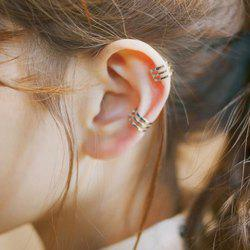 Pair of Characteristic Multi-Layered Punk Style Clip Earrings For Women -