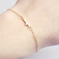 Cross Adjustable Bracelet - GOLDEN
