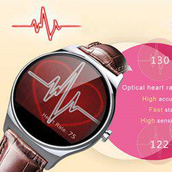RWATCH R11 MTK2501 Smart Bluetooth Watch IP67 Infrared Remote Controller Camera Remote Heart Rate Monitor Genuine Leather Band -