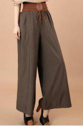 Fashionable Lace-Up Wide Leg Pants For Women -