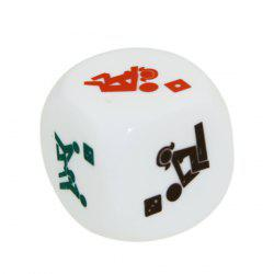 ENKAY 2.0cm Sexy Funny Adult Couples Humour Gambling Dice Toy - 2 PCS