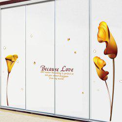 European Style Flower PVC Removable Wall Art Decal Sticker -