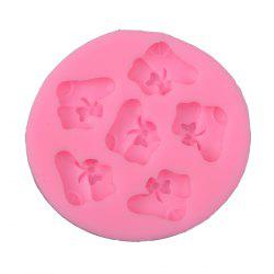 6-Cup DIY Silicone Cute Socks Style Baking Mold Cake / Biscuit DIY Manual Tool Set Easy Kitchen -