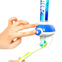 YK-911 Automatic Toothpaste Dispenser Squeezer Holder Home Furnishing - BLUE AND WHITE