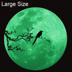 Magpie Style Fluorescent Moon Wall Stickers Creative Home Decoration Romantic Wallpaper for Bedroom / Living Room -