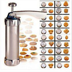 Press Cookie Machine Biscuit Maker Cake Decorating Gun Kitchen Tool 20 Moulds -