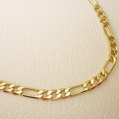 Simple Solid Color Anklet For WomenJEWELRY<br><br>Color: GOLDEN; Gender: For Women; Style: Trendy; Shape/Pattern: Others; Length: 20-25CM; Weight: 0.090kg; Package Contents: 1 x Anklet;