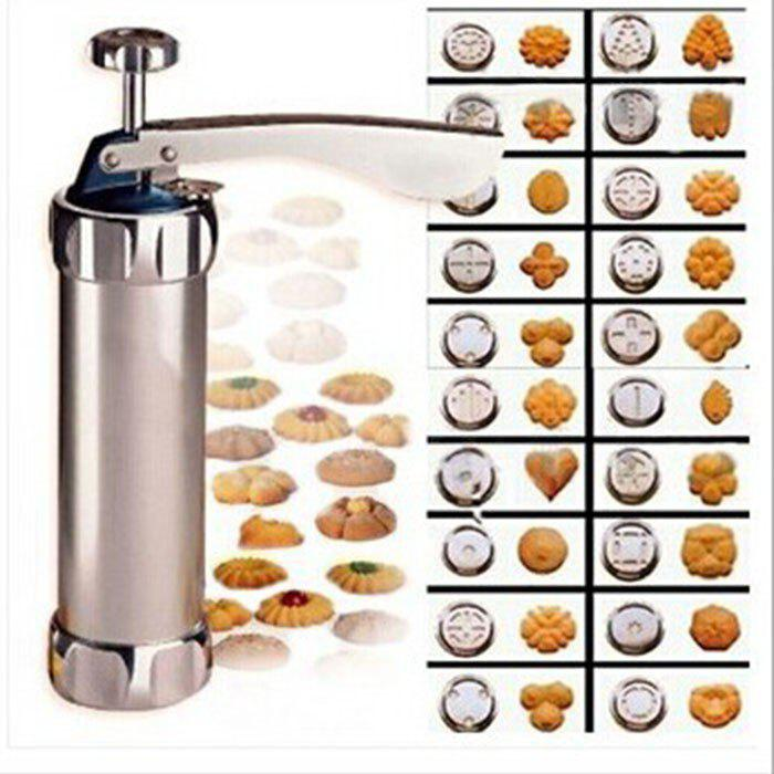Fancy Press Cookie Machine Biscuit Maker Cake Decorating Gun Kitchen Tool 20 Moulds