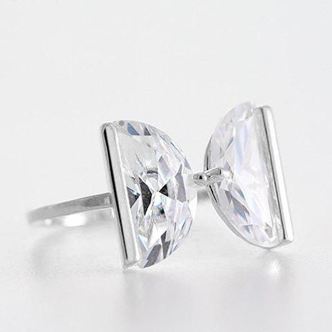 Affordable Delicate Rhinestone Letter Ring For Women