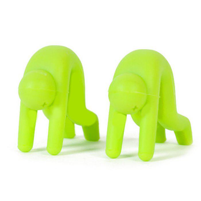 2pcs Creative Little People Design Pot Raised Frame Silica Gel Spill-proof Heightened CoverHOME<br><br>Color: GREEN; Type: Pot Spill-proof Tool; Material: Silicone; Color: Pink,White,Red,Blue,Green; Product weight: 0.030 kg; Package weight: 0.080 kg; Product size (L x W x H): 4.5 x 4 x 4 cm / 1.77 x 1.57 x 1.57 inches; Package size (L x W x H): 10 x 10 x 5 cm / 3.93 x 3.93 x 1.97 inches; Package Contents: 2 x Pot Spill-proof Tool;