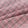 Fashion Shirt Collar Color Block Plaid Splicing Slimming Long Sleeve Polyester Shirt For Men - RED L