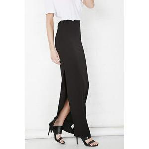 Plus Zellie Maxi Skirt With Slit -