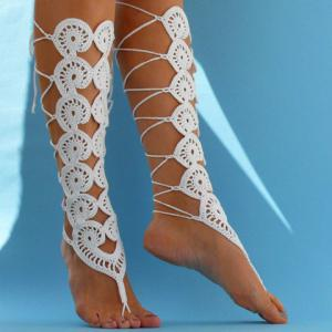 Pair of Chic Handmade Weaved Flower Barefoot Sandals For Women -