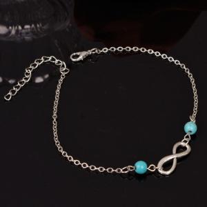 Retro Style Turquoise Infinity Anklet For Women -