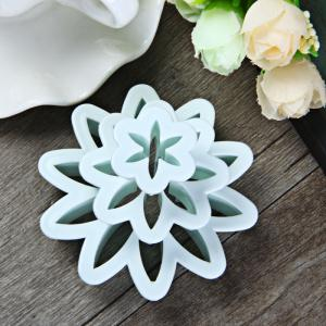 3Pcs Marguerite Style DIY Cake Mould for Embossing Fondant Decoration -