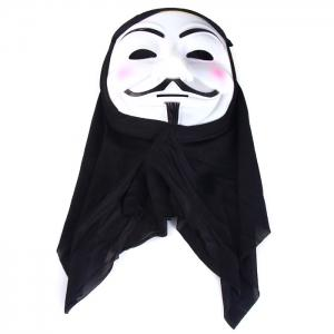 V for Vendetta Team Halloween Masquerade Carnival Mask with Cloth for Party Use -