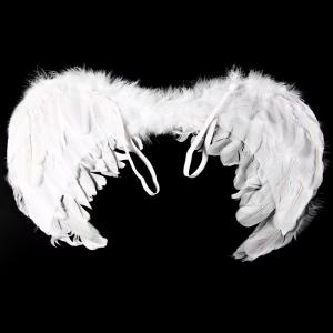 Angel Wings with Elastic Straps for Christmas Costume Theme Parties - WHITE SIZE S