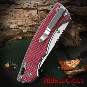 Sanrenmu 7095 LUC - GL1 Foldable Knife with Line Locking for Outdoor Climbing and Adventure -