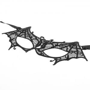 Fashion Elegant Hollow Out Lace Design Bat Mask for Halloween Masquerades Party -