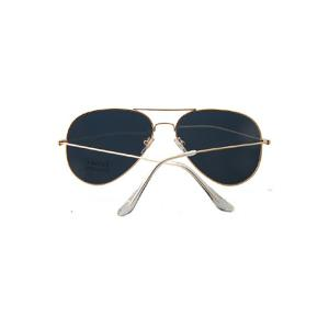 Chic Golden Full Frame Mirror Pilot Sunglasses - GOLDEN
