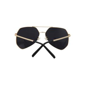 Chic Golden Alloy Frame Affordable Polarized Sunglasses - BLACK