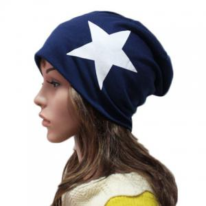 Chic Big Five-Pointed Star Pattern Beanie For Women -