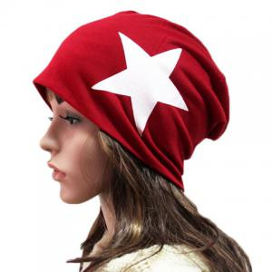 Chic Big Five-Pointed Star Pattern Beanie For Women - RANDOM COLOR