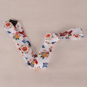 Stylish Flower Leaf Ethnic Pattern Colored Tie For Men -