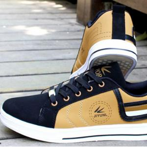 Stylish Color Block and Letters Design Men's Casual Shoes -
