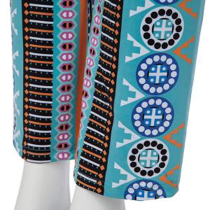 Casual Ethnic Print Wide-Leg  Pants For Women - WATER BLUE M