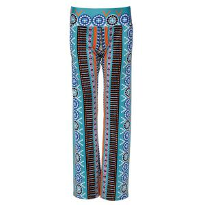 Casual Ethnic Print Wide-Leg  Pants For Women