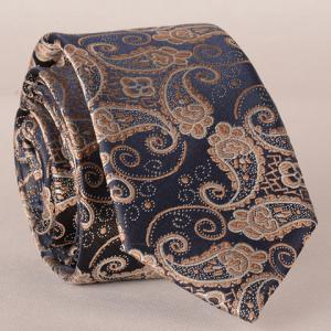 Stylish Fulled Paisley Embroidery Jacquard Tie For Men