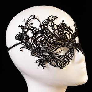 Fashionable Butterfly Shape Hollow Out Lace Halloween Party Mask For Women -