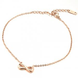 Delicate Infinity Solid Color Fancy Anklets - GOLDEN