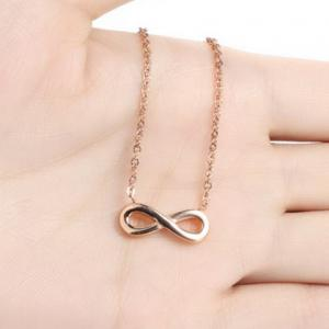 Delicate Infinity Solid Color Fancy Anklets -