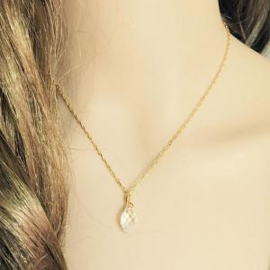 Delicate Faux Crystal Waterdrop Pendant Necklace For Women